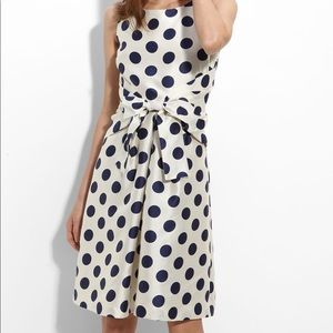 White & Navy Kate Spade Jillian Polka Dot Dress 4